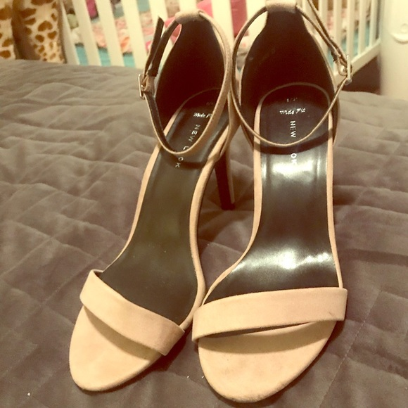 Wide Width Asos Barely There Nude Heels